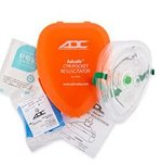 CPR Mask w/Outlet - Hlth 103,114,127,154,155, HO127 Pocket Mask Adsafe