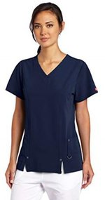 Scrub Top Xtreme Stretch Vneck Navy