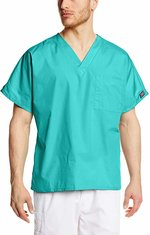 Scrub Top Unisex Fit Teal Blue Medium