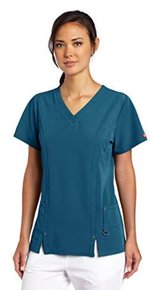 Scrub Top Xtreme Stretch Carribean Blue