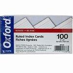 Index cards 3x5 ruled- essentials